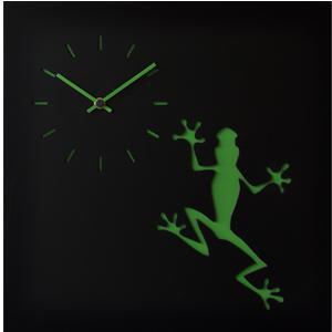 Orologio da parete LLA stampa su MDF Laccato 38,5xh38,5 cm per camerette bambini rana verde