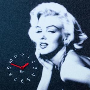 Orologio da parete Marilyn stampa su MDF 48x48