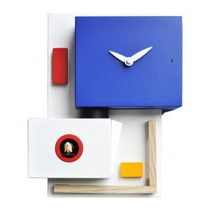 Orologio con Cucù da parete Around Rietveld 22x10xh26 cm inserti in legno di faggio