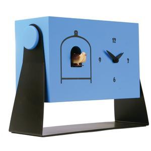 Orologio Cucù da tavolo, appoggio 30x10xh22 cm cassa in metallo MDF laccata azzurro ral 5012