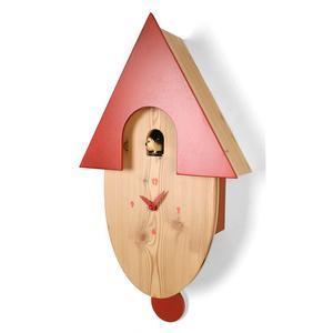 Orologio a cucù con pendolo per cameretta bambini 28x11xh44 cm larice massello