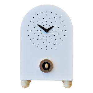 Orologio con cucù Da appoggio Marconi 17x11xh27 con particolari in legno di acero colore bianco