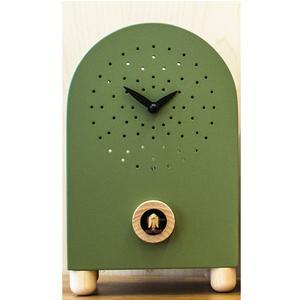 Orologio con cucù Da appoggio Marconi 17x11xh27 con particolari in legno di acero colore verde