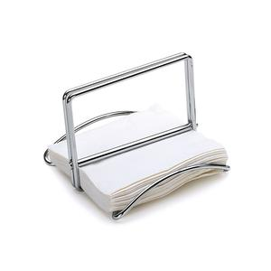 Porta tovaglioli in doppio filo cromato 22x22xh15 cm