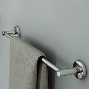 Porta Salviette CM.60 Linea Atlanta 65x7xh6 cm finitura inox lucido stile modern