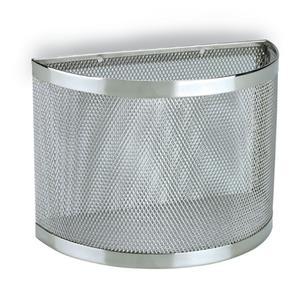 Cestino Doccia Fissaggio a Parete cromo 22x11xh16 cm inox lucido