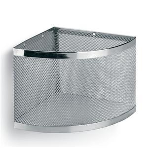 Angolare Doccia Fissaggio a Parete cromo 18,5x18,5xh16 cm inox lucido