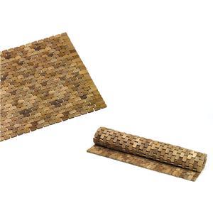 Tappeto per doccia in legno Teak naturale 50x50xh1,8cm ad alta resistenza