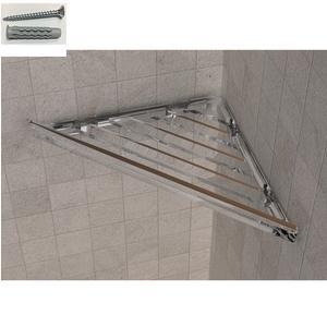 Angolare doccia BRIXIA Fissaggi a Viti e stop 32,7x16,10xh3,3cm in ABS Trasparente