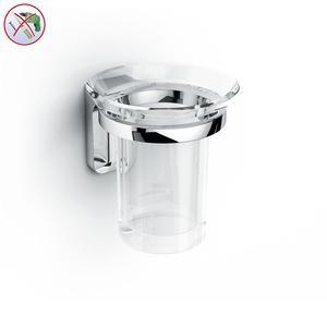 Porta Bicchiere adesivo in acrilico BRIXIA INCOLLO SENZA VITI corredati con kit biadesivo e collante 3M