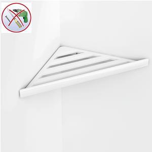 Angolare doccia BRIXIA AD INCOLLO 32,7x16,10xh3,3cm in ABS Lucido bianco