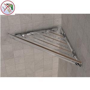 Angolare doccia BRIXIA AD INCOLLO 32,7x16,10xh3,3cm in ABS Trasparente
