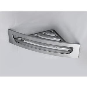 Angolare doccia in ABS 22,60x22,60xh7,4 cm con in ABS cromato