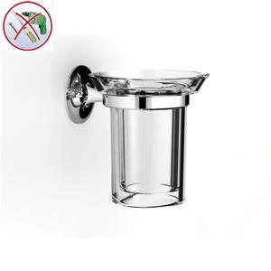 Porta Bicchiere Sospeso CALYPSO 10x12xh12 cm INCOLLO SENZA VITI corredati con kit biadesivo e collante 3M