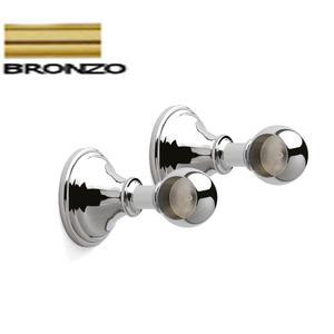 Base Classica finale Set 2 Pezzi per Barra da cucina portautensili rotonda in acciaio Colore Bronzo