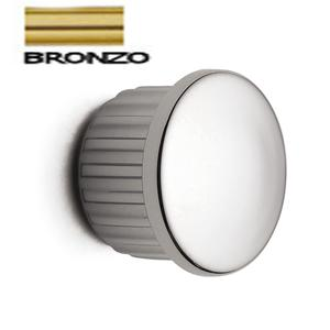 Tappino Finale tubo 6 pezzi per Barra da cucina portautensili rotonda in acciaio satinato finitura bronzo antico