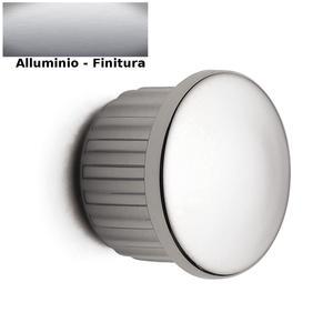 Tappino Finale tubo 6 pezzi per Barra da cucina portautensili rotonda in acciaio satinato finitura alluminio