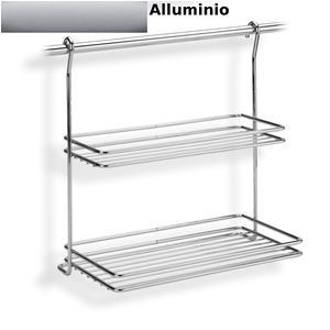 Good mensola due piani applicabile alla barra da cucina - Ikea porta spezie ...