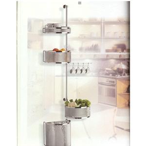 Struttura a terra con cestelli in cromo utilizzabile in cucina e bagno h183 Jam