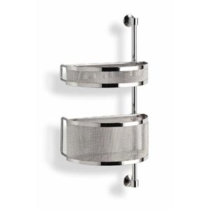 Struttura a parete con cestelli in cromo utilizzabile in cucina e bagno h65 Jam