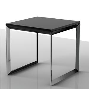Tavolino basso da salotto con piano in MDF 50x50xh50 cm Nero
