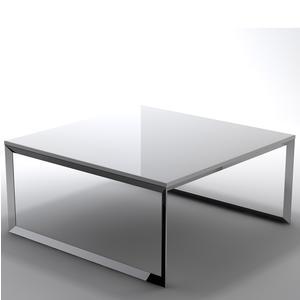 Tavolino basso da salotto con piano in MDF 90x90xh40 cm bianco
