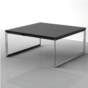 Tavolino basso da salotto con piano in MDF 90x90xh40 cm nERO