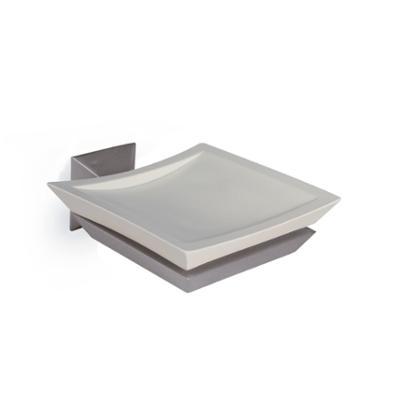 Portasapone sospeso in cromato FIRENZE 10x12,5xh2,5 cm con contenitore in acrilico