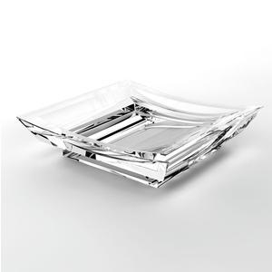 Portasapone da appoggio in acrilico Firenze 10x10xh2.5 cm trasparente
