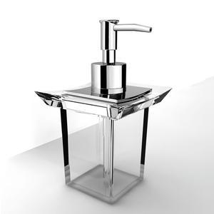 Porta Dispenser da appoggio in acrilico Firenze 10x10xh17 cm trasparente