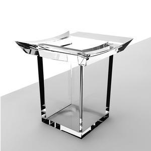 Porta Bicchiere in acrilico Firenze 10x10xh10,5 cm trasparente