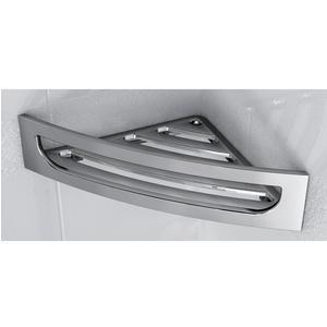 Angolare per doccia in acciaio inox 4hx16x30 CM Completo di stop per il montaggio
