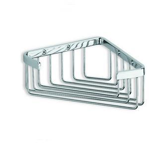 Angolare per doccia in acciaio inox h6x17x17 CM Completo di stop per il montaggio