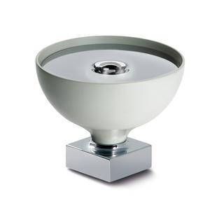 Portasapone da appoggio Cromato GIO' 12x12xh10 cm con contenitore bianco opaco