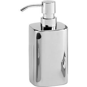 Porta Dispenser DA APPOGGIO GLOSSY h18.2x7.2x10 in acciaio inox 1810