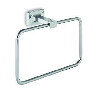 Porta salviette ad anello GRAN TORINO 20,8x7,4xh14,4cm finitura inox lucido stile minimalista
