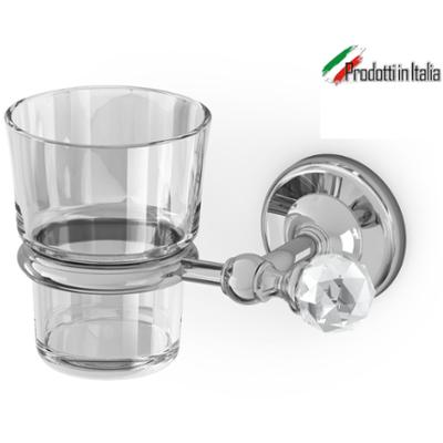 Porta Bicchiere Linea MADRAS ORIENTE Cromo e Swarovski