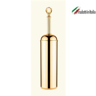 Portascopino Linea MADRAS ORIENTE 8x8xh37 cm oro lucido e Swarovski