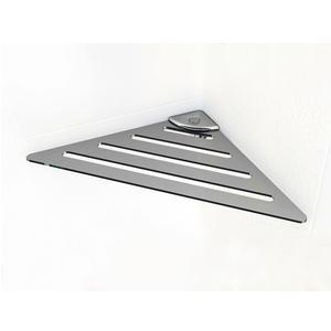 Angolare doccia POINT 17,8x17,8xh3,3cm con attacco ABS in acciaio inox Lucido