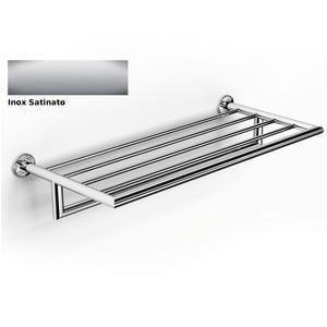 Ripiano porta salviette in acciaio satinato plaza 65,50x26,5xh14,50 cm