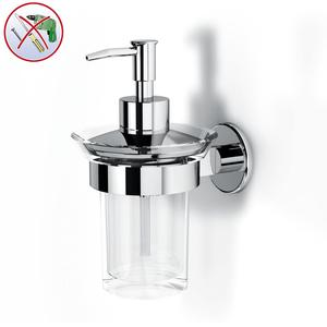 Porta Dispenser Linea SPARK INCOLLO SENZA VITI in inox lucido corredati con kit biadesivo e collante 3M