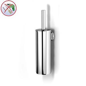 Porta Scopino Linea SPARK INCOLLO SENZA VITI in inox lucido corredati con kit biadesivo e collante 3M