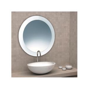 Specchio tondo sabbiato 70x70x5 cm Spessore con cornice sabbiata