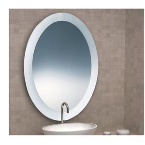 Specchio Ovale sabbiato 90x70x5 cm Spessore con cornice sabbiata