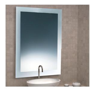 Specchio Rettangolare sabbiato 90x70x5 cm Spessore con cornice sabbiata