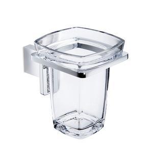 Portabicchiere da bagno sospeso 8,90x13,20xh11,00 cm manico quadrato