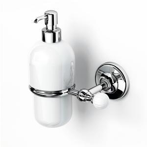 Porta Dispenser sospeso in porcellana VENEZIA 14x11xh16.50 cm inox lucido