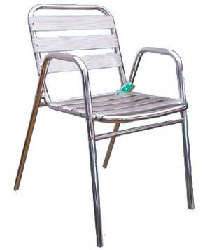 Sedia alluminio con braccioli stilcasa net sedie - Sedia con braccioli ikea ...