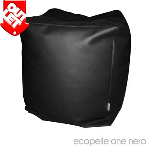 Pouf CUBO ecopelle one nero