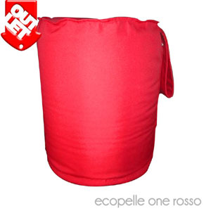 Pouf SAMBY ecopelle one rosso